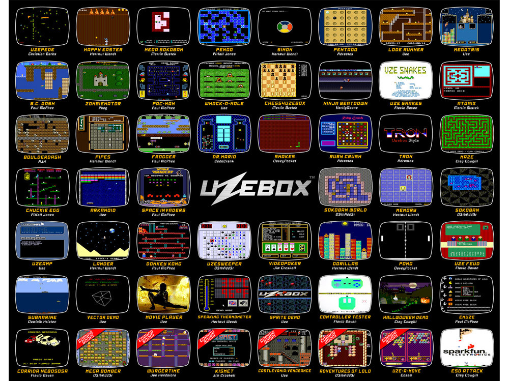 several open source games for Uzebox Jamma