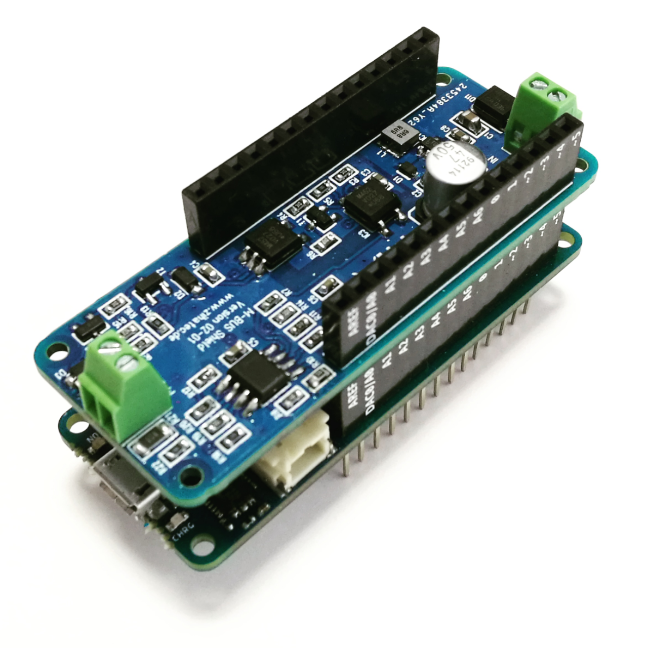 Arduino MKR M-Bus Shield stacked on  MKR WiFi 1010