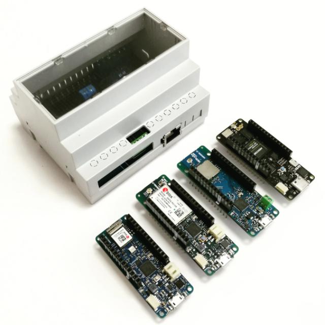 NEU: Hutschienengehäuse für Arduino MKR und Portenta H7