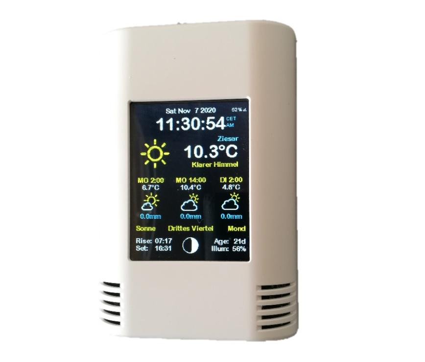AZ-Touch Feather mit Beispielsoftware Wetterstation