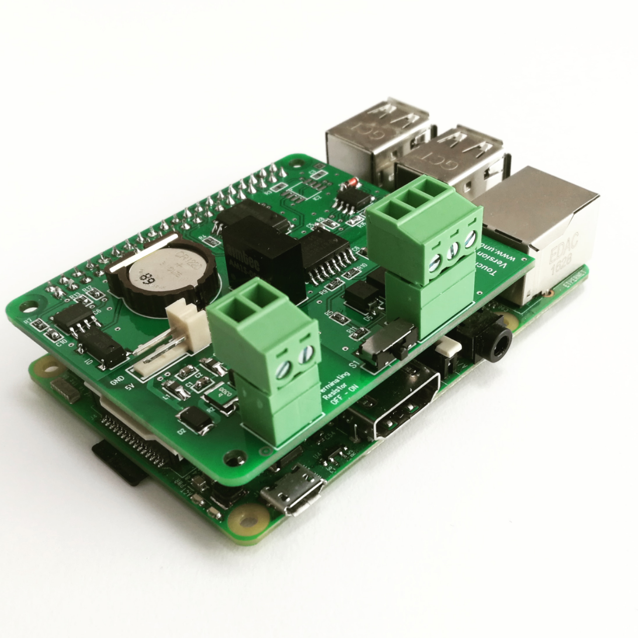 Customized Raspberry Pi HAT including RTC, FLASH ....