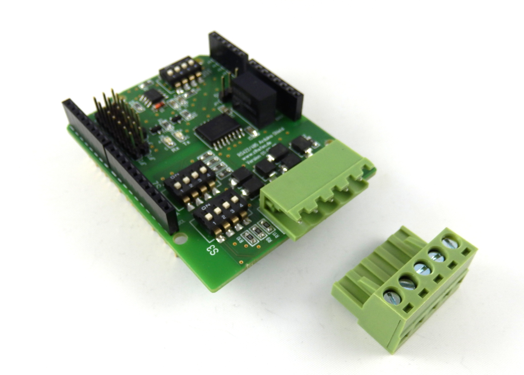 RS422 / RS485 Shield side view
