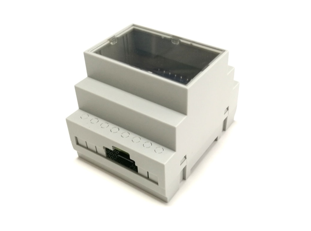 Enclosure top view with opening for micro USB