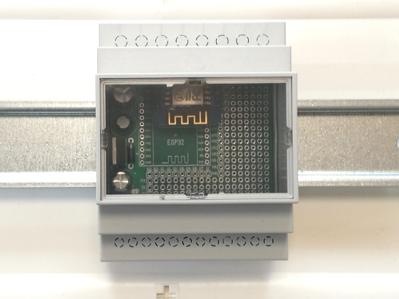 ArduiBox ESP mounted in a cabinet
