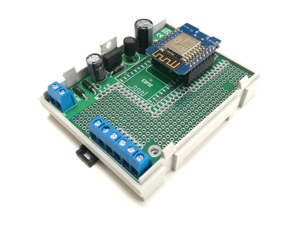 ArduiBox ESP pcb assembled for ESP8266 module