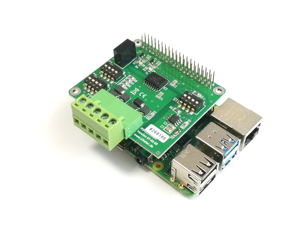 Pi 4B mit RS422/RS485 HAT (stacked header version)