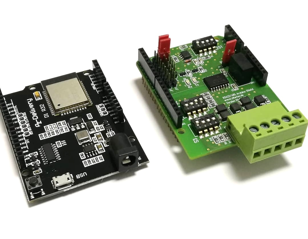 RS422 / RS485 Shield & D1 R32 (ESP32)