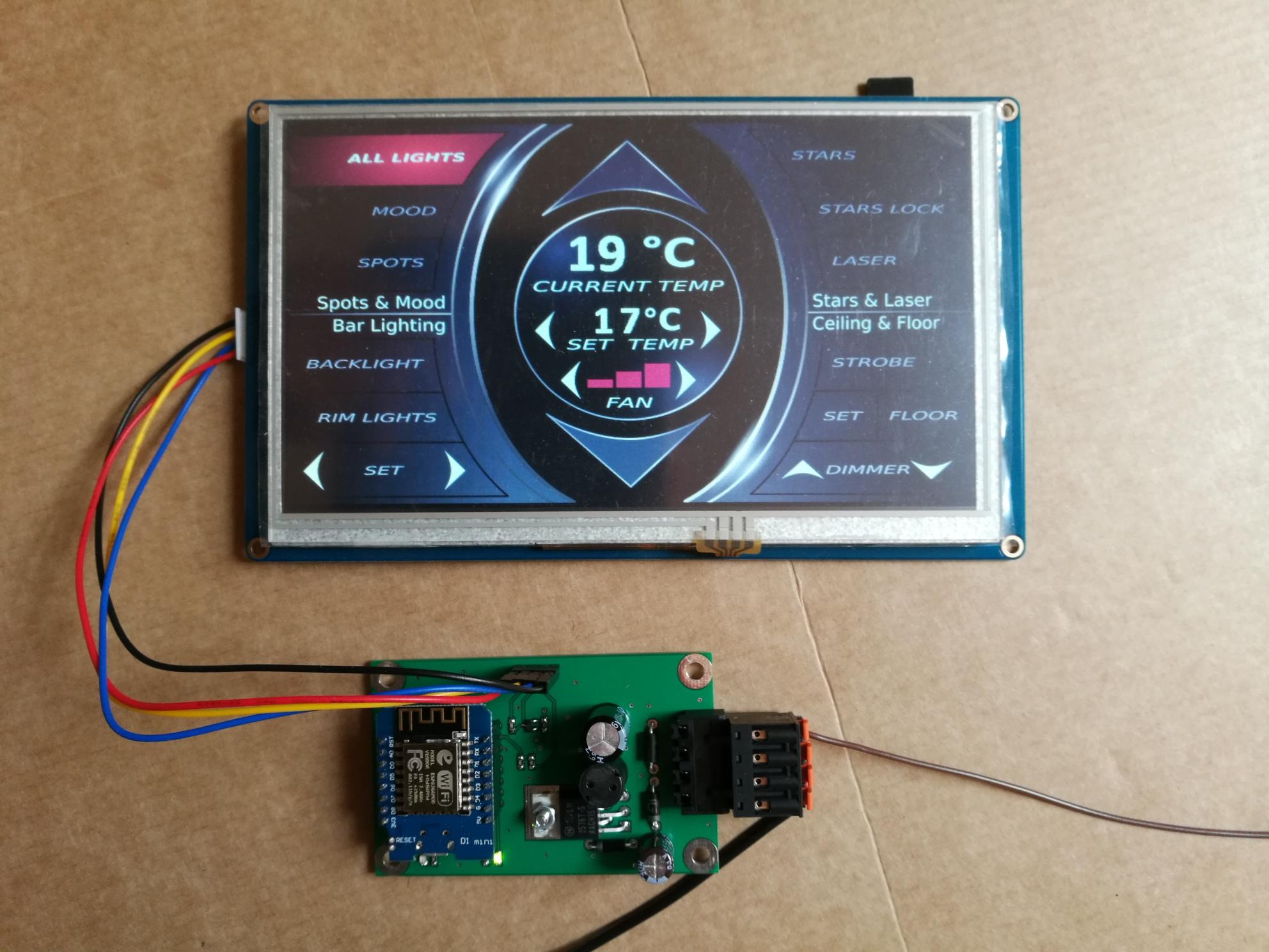 Nextion Touchpanel mit Paneldriverboard