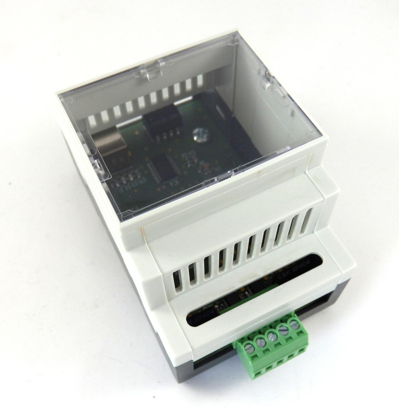SimpliBox 485 Platine montiert im Gehäuse