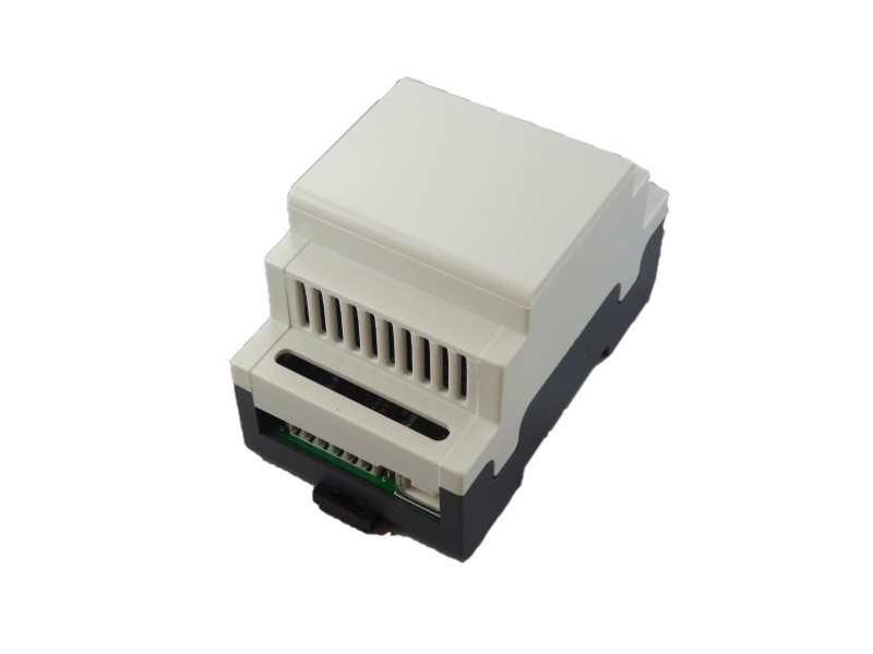 mounted in 3 module din rail enclosure