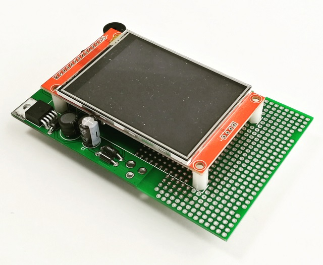 AZ-Touch Feather pcb with  assembled touchscreen