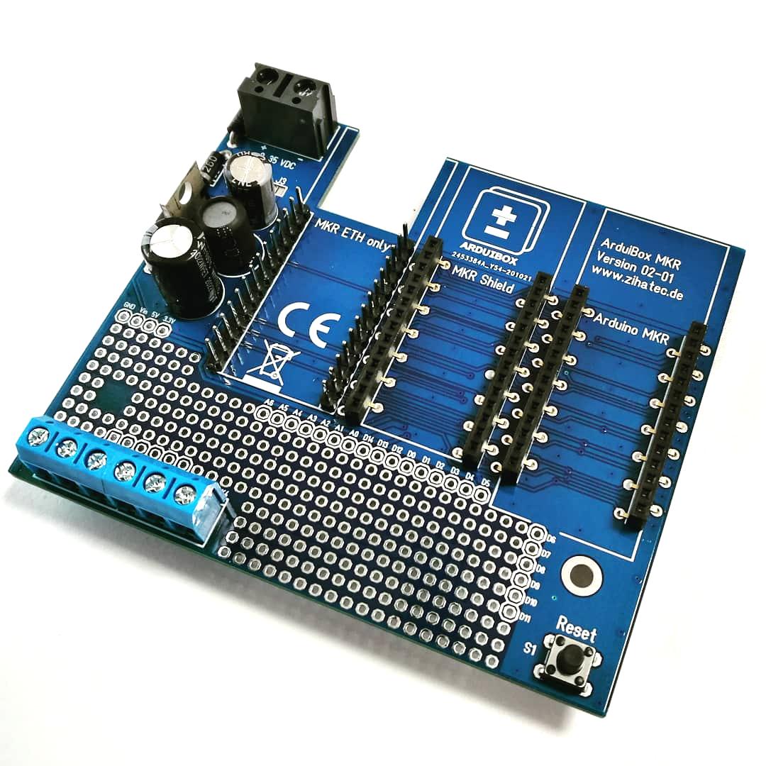 Leiterplatte ArduiBox MKR Gehäuse Kit