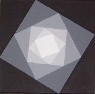 Viereck schwarz-weiss   Acryl auf Leinwand 20 x 20  CHF 100