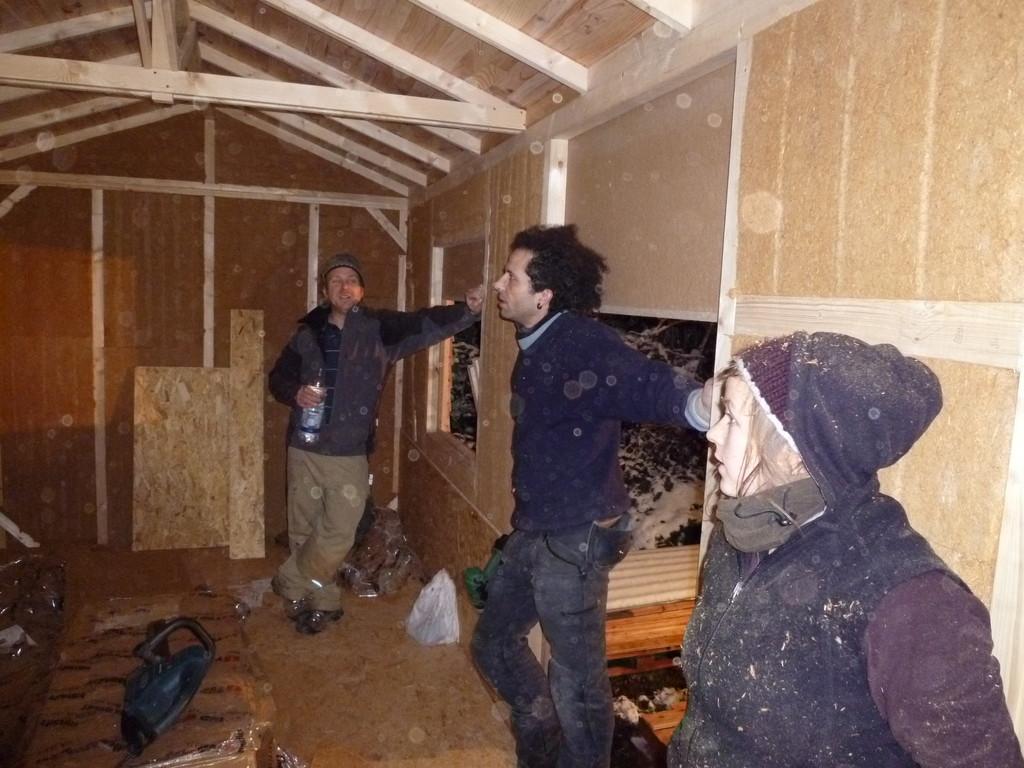 Dämmung aus Holzfasermatten