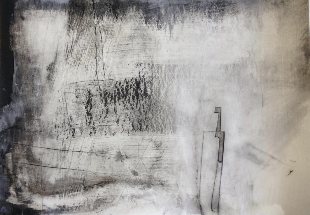 Schweben Nr 02, Mischtechnik, 20x20cm, 2017