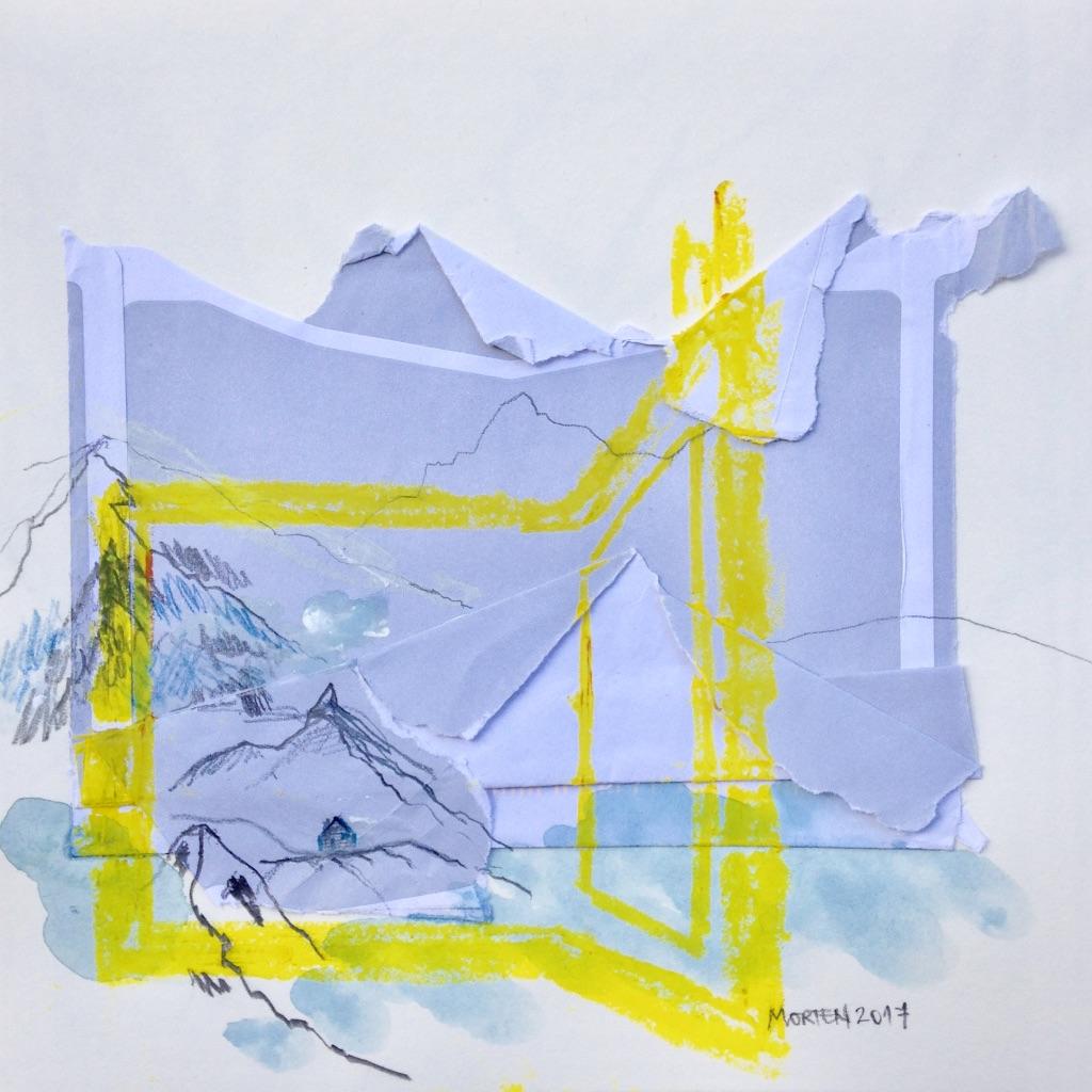 Innehalten,  Mischtechnik, 20x20cm, 2017