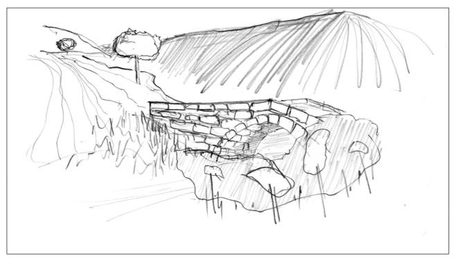 Silberweg Nr. 03, Zeichnung, 20x30cm, 2016
