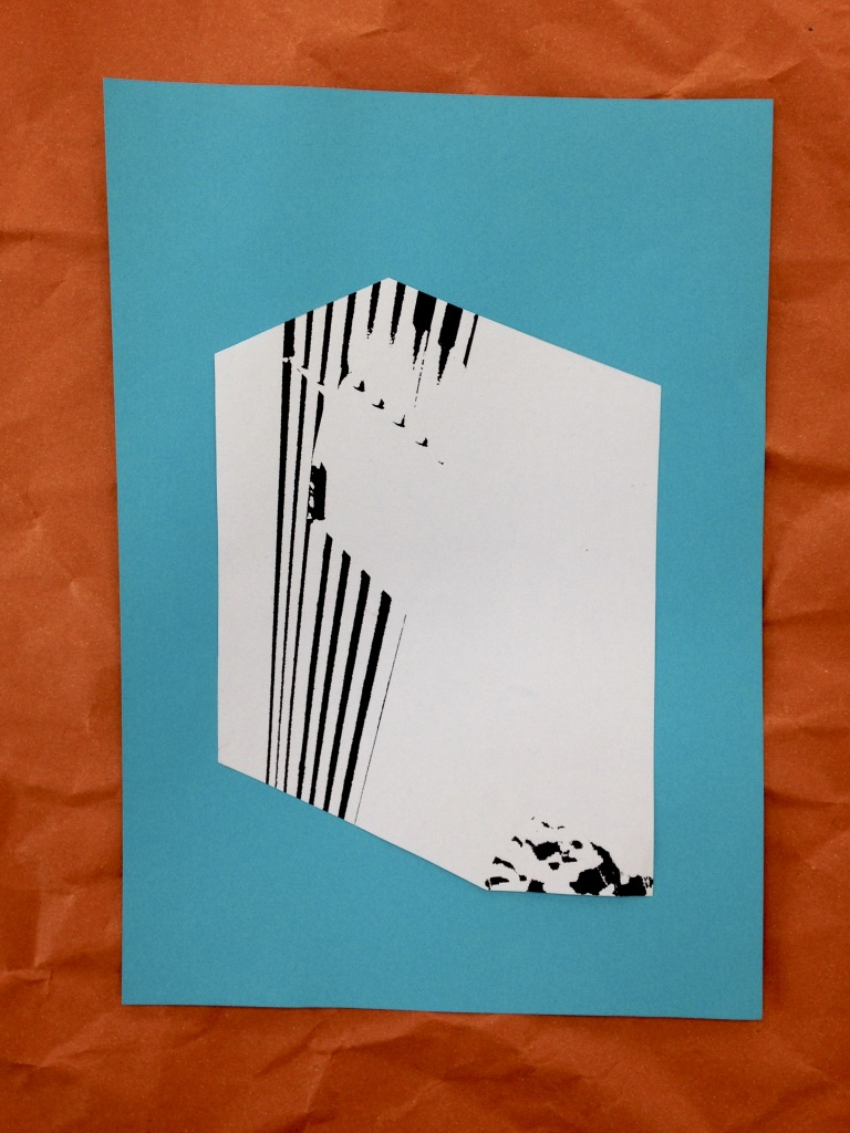 Morten Form _ zur Plastik Vorbereitung, Papier, 10x15cm, 2018