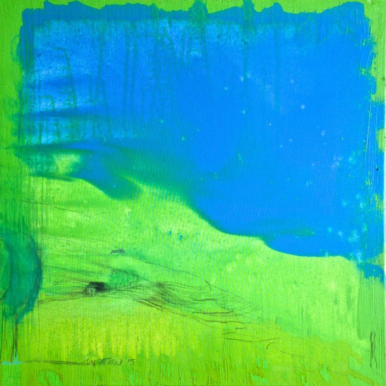 BEZIEHUNG, 2015, Johannes Morten, 70 x 70 cm, Öl, Acrylstift, Graphit und Kohle auf Canvas