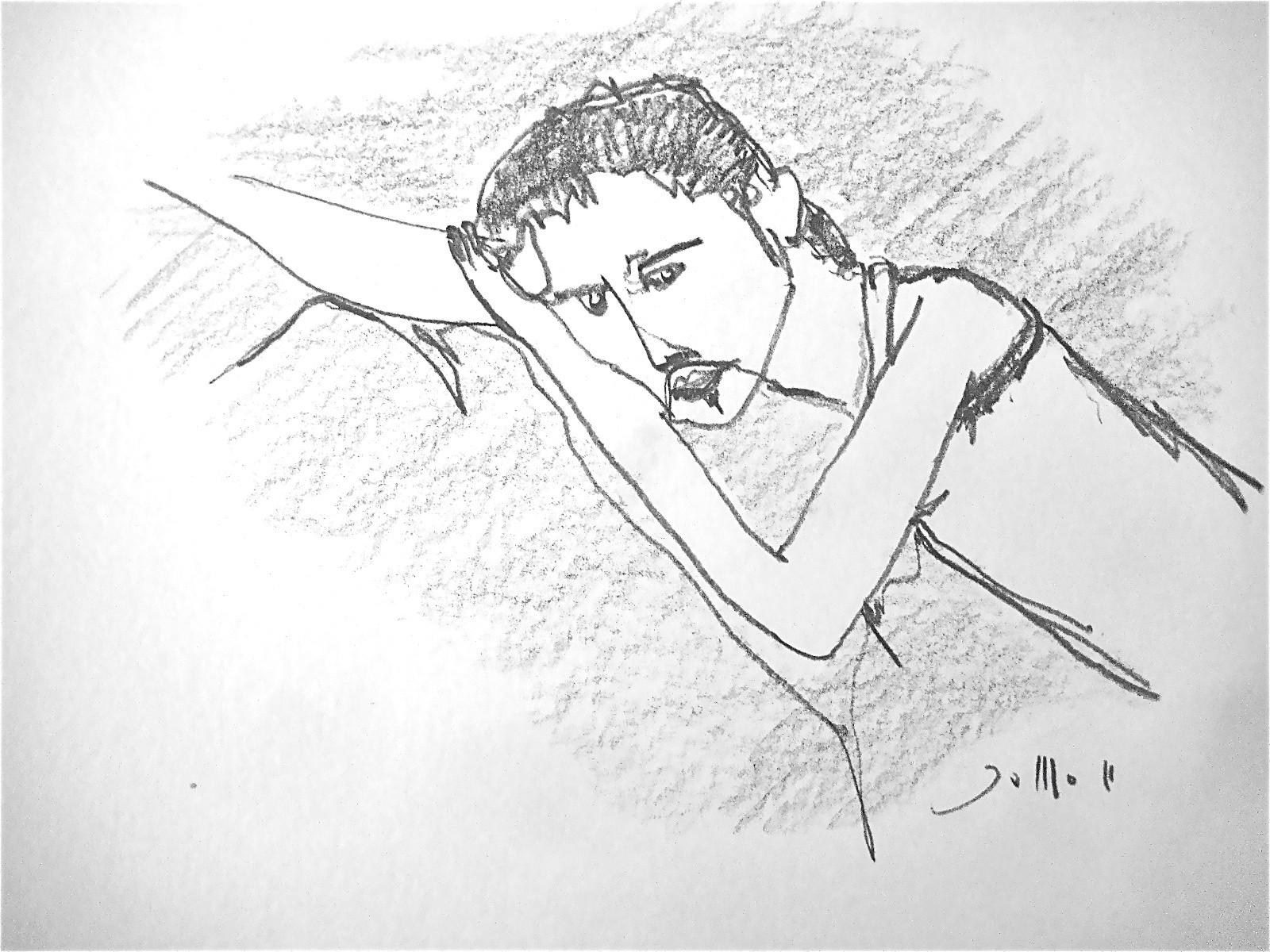 DENKER, 2011, Johannes Morten, 20 x 20 cm, Graphit auf Papier