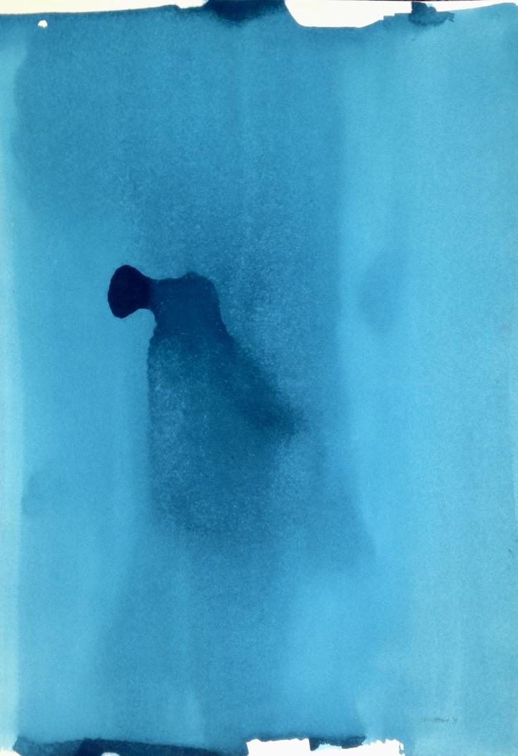 Ohrtrompetenengel, Acryl, 70x100cm, 2015