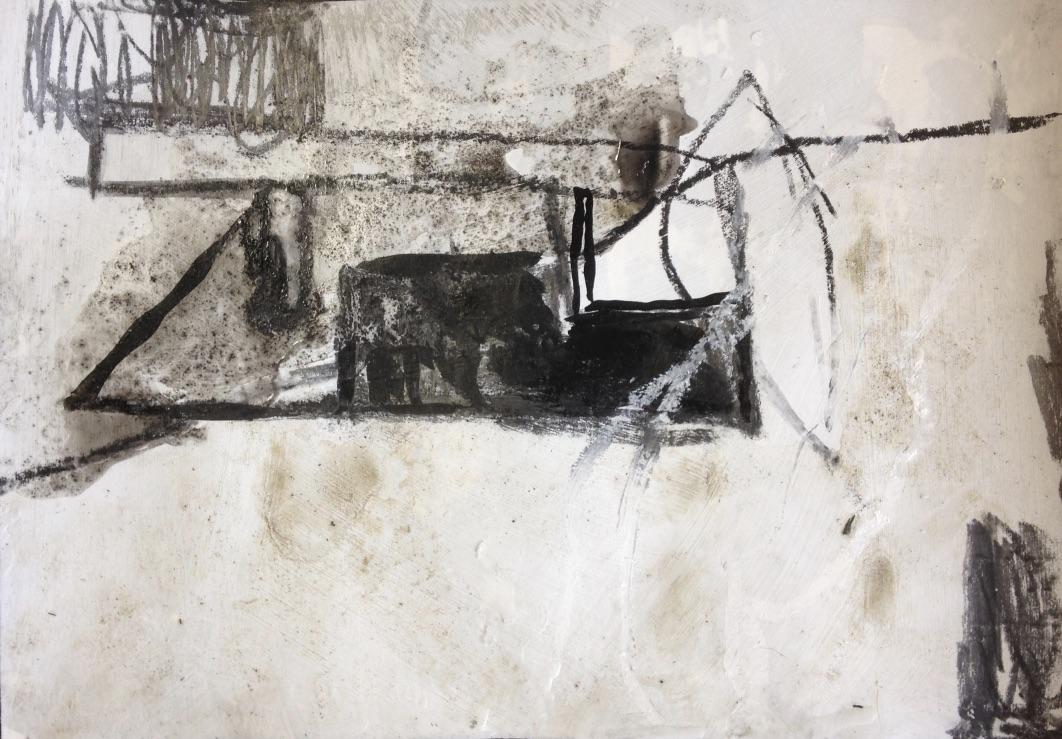 Dasein Nr. 01, Mischtechnik, 20x20cm, 2017