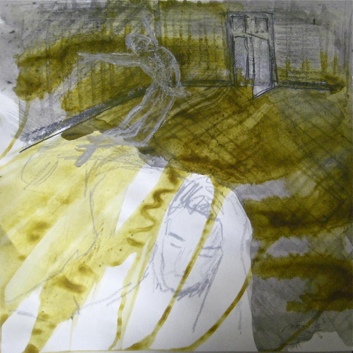 Betrachtet Zyklus: Die Zeit mit Nurejew Nr. 03, Mischtechnik, 40x40cm, 2012