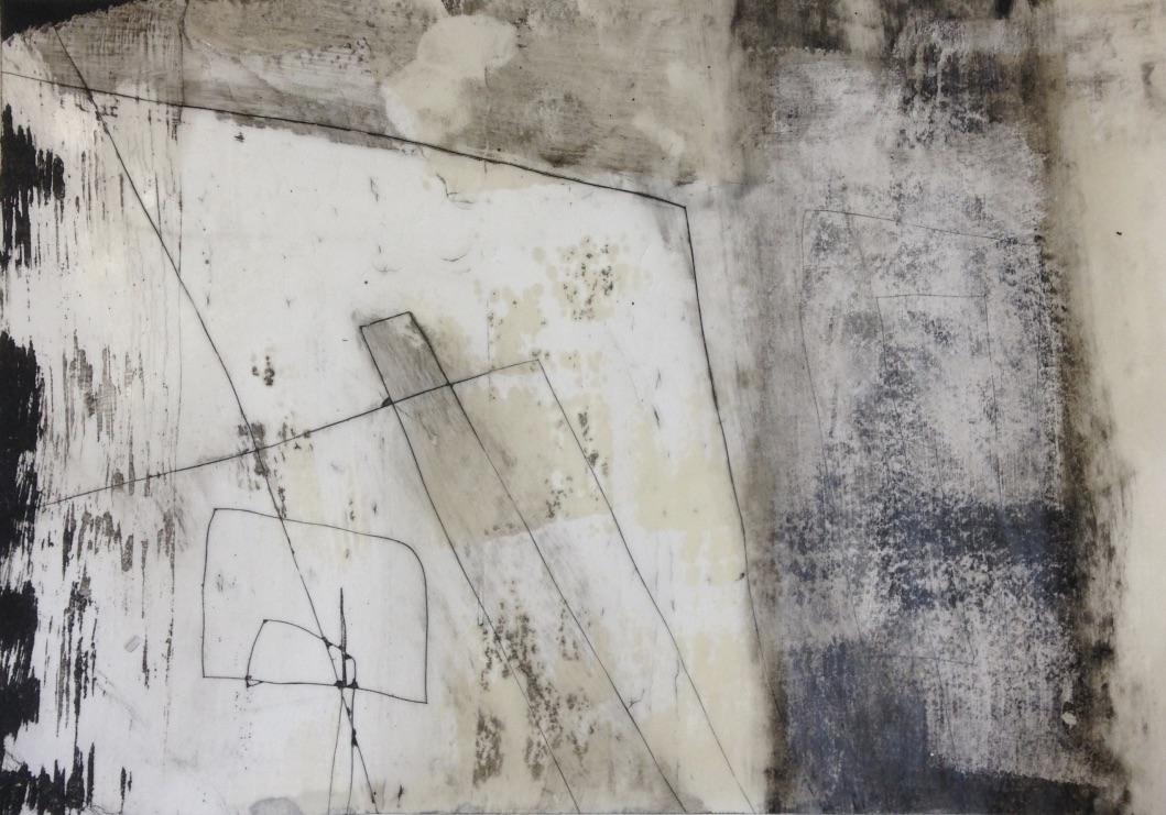 Schweben Nr 01, Mischtechnik, 20x20cm, 2017