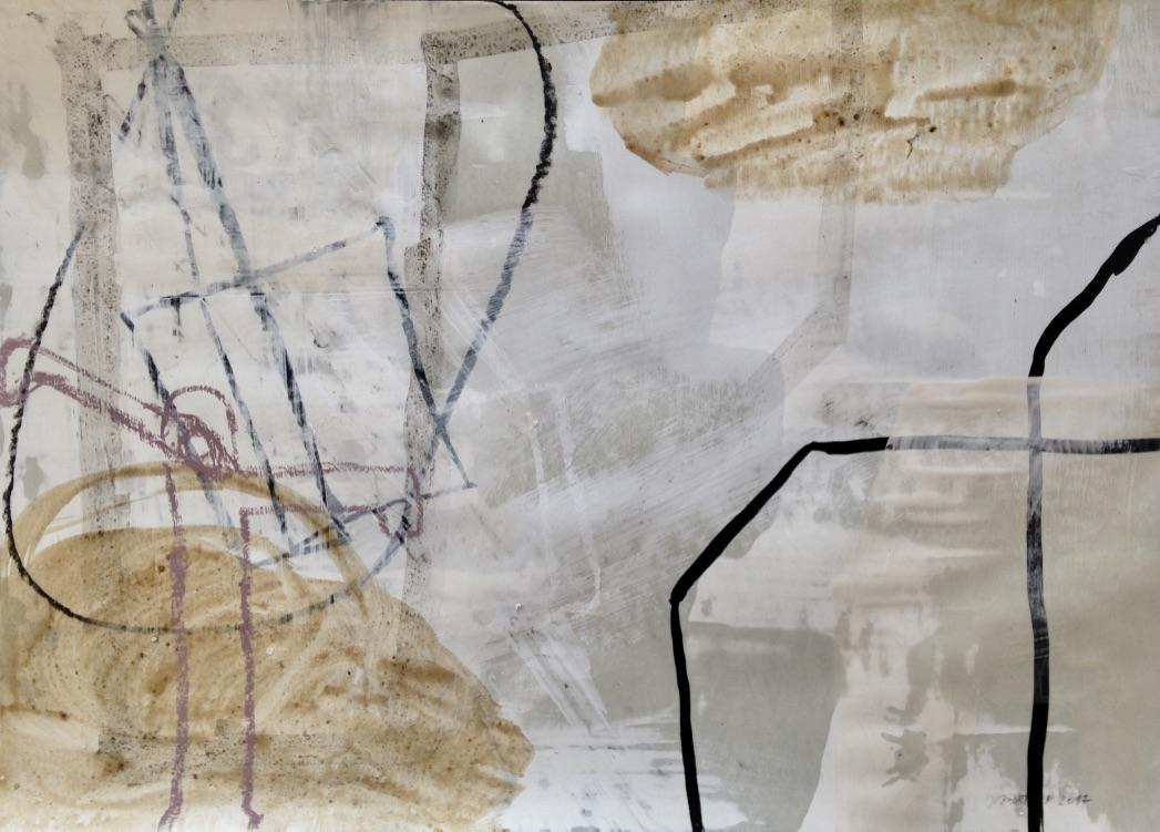 Bin im Garten Nr. 02, Mischtechnik, 70x100cm, 2017