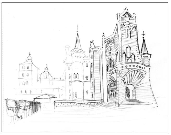 Silberweg Nr. 04, Zeichnung, 20x30cm, 2016