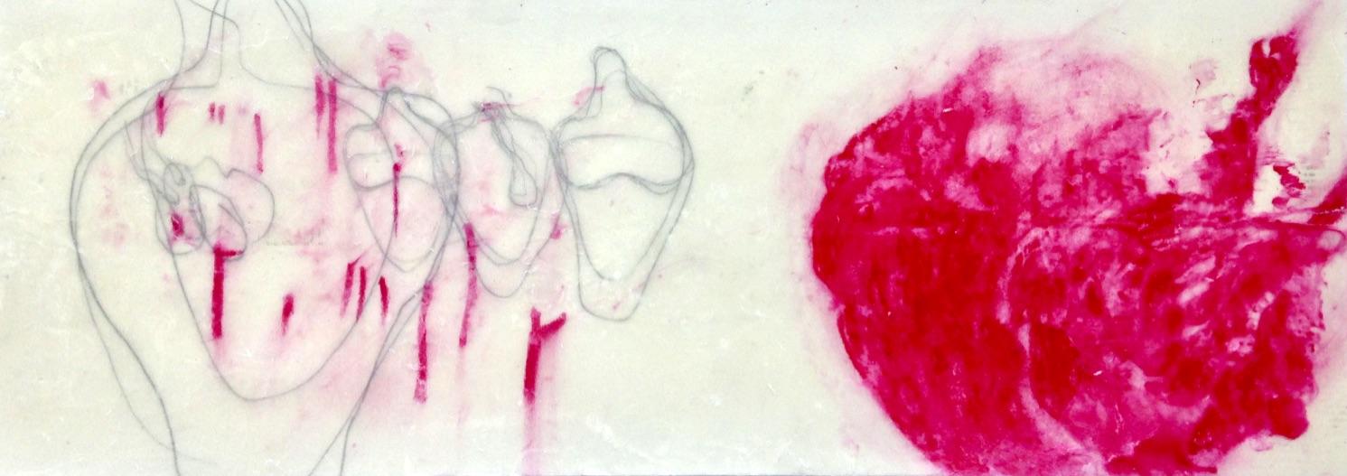 """""""Schüttel dein Herz für mich"""", Mischtechnik, 43,26 x 70 cm, 2019"""