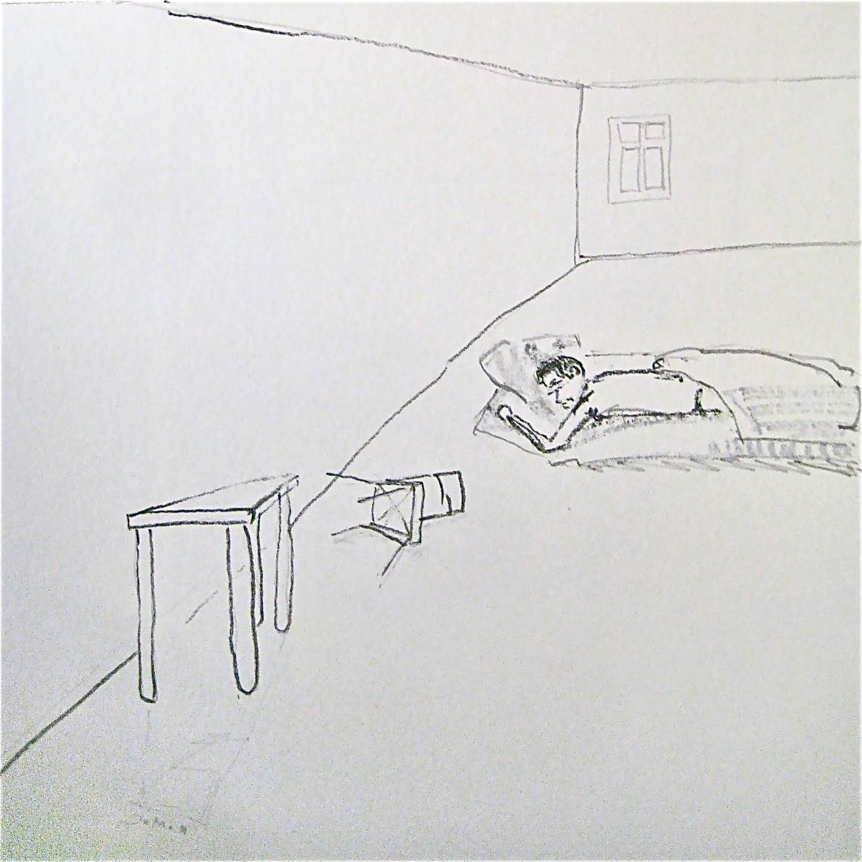 RAUM BILDEN, 2011, Johannes Morten, 20 x 20 cm, Graphit auf Papier