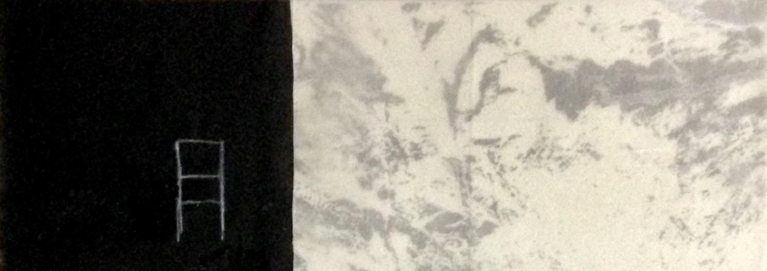 Raum: Fläche, Platz und Wahrnehmung, Mischtechnik, 14,85 x 42 cm, 2019
