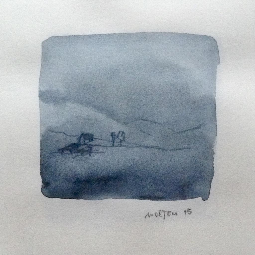 Am Wasser Zyklus: Ohne Titel, 20x20cm, Aquarell und Graphit, 2015