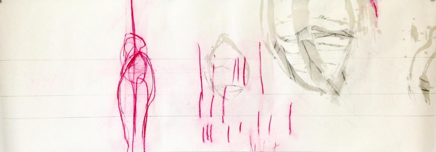 Befinden Nr. 01, Mischtechnik, 70 x 198 cm, 2019