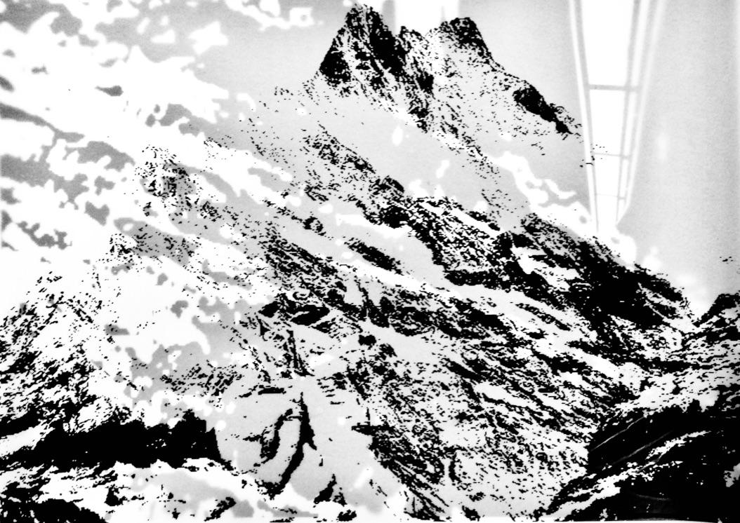 Berg & All Nr. 01, Mischtechnik, 42x29,7cm, 2018