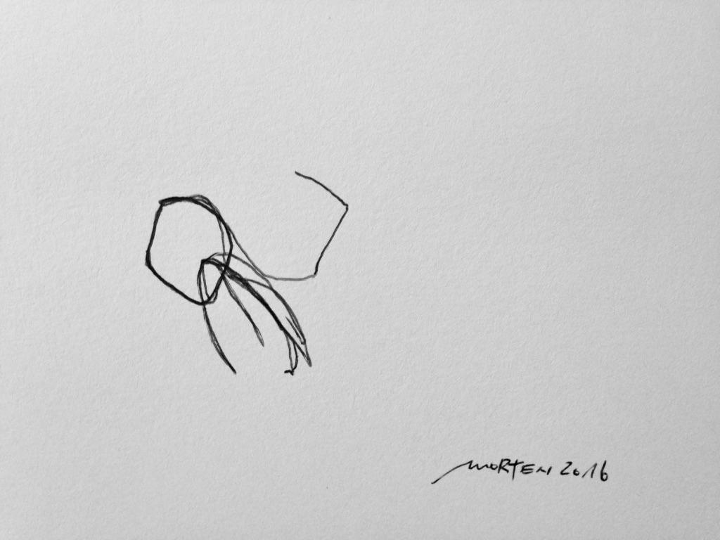ERÖFFNEN, 2016, Johannes Morten, 14,8 x 21 cm, Tinte auf Papier