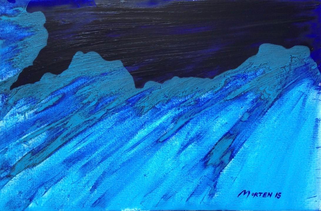 BESCHLEUNIGUNG, 2015, Johannes Morten  40 x 60 cm, Öl auf Leinwand