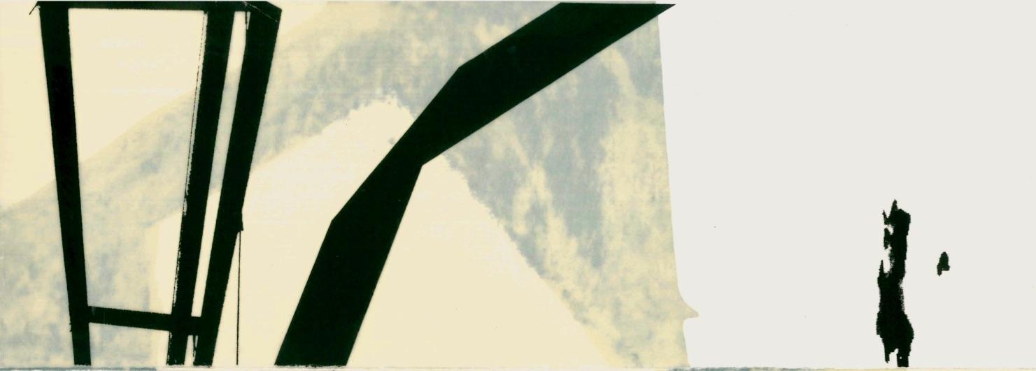 Himmelsleiter Nr. 01, Mischtechnik, 14,85 x 42 cm, 2018