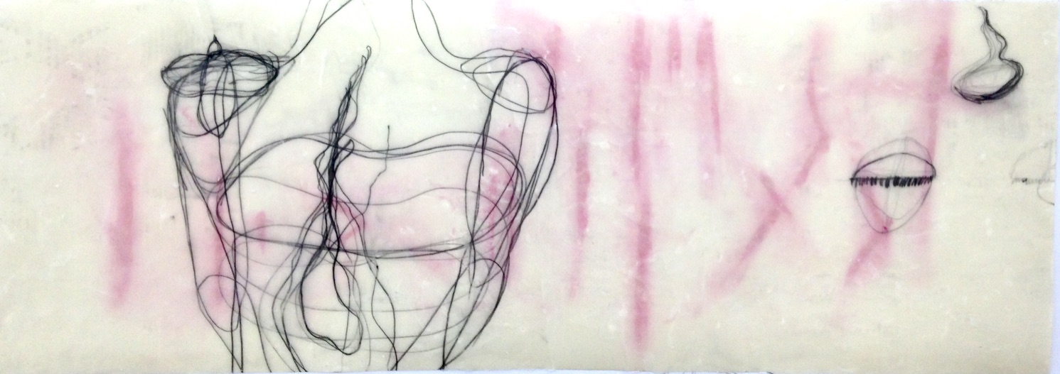 """""""Nicht wahrnehmen, ... glaubst du?"""", Mischtechnik, 43,26 x 70 cm, 2019"""