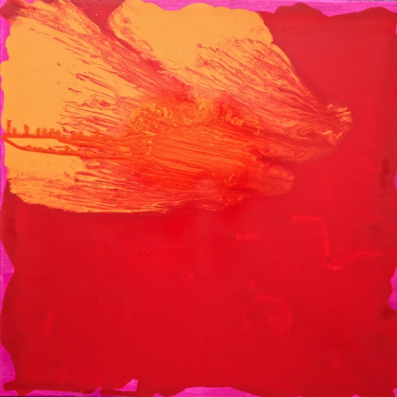 ENTSCHLEUNIGUNG FL 03, 2015, Johannes Morten, 80 x 80 cm, Öl auf Canvas