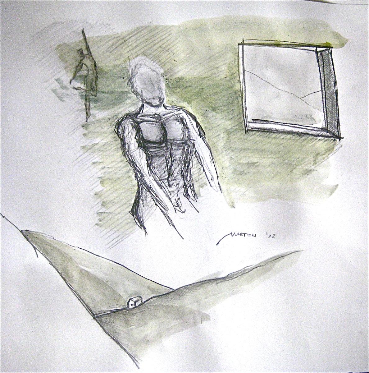 Betrachtet Zyklus: Die Zeit mit Nurejew Nr. 01, Mischtechnik, 40x40cm, 2012