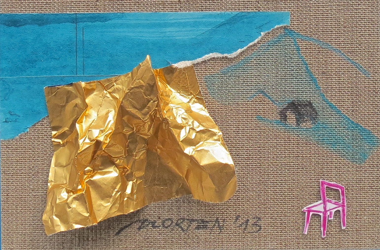 Bergzyklus, Nr. 02, Collage, 2013