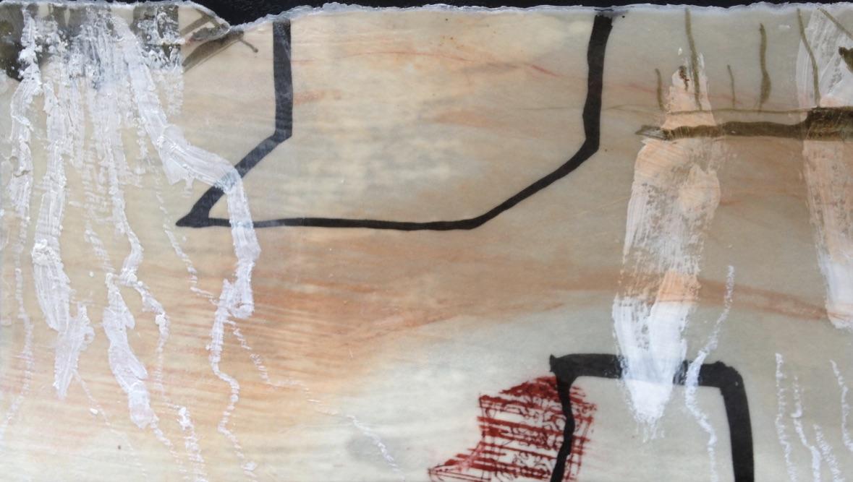 Bin im Garten Nr. 03, Mischtechnik, 20x12cm, 2017