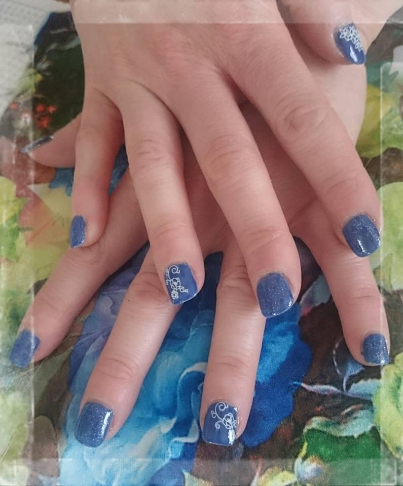 Bleu électrique / motifs