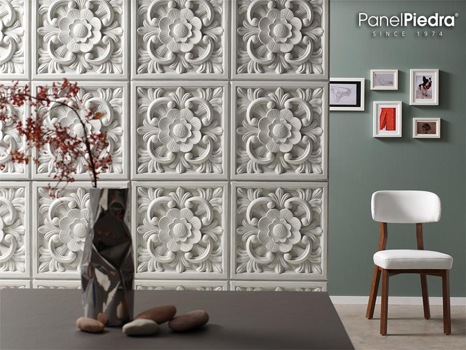Panel Piedra - Serie Vintage - Paneele mit Vintageoptik - Windsor Italienisches Weiss PR-1070