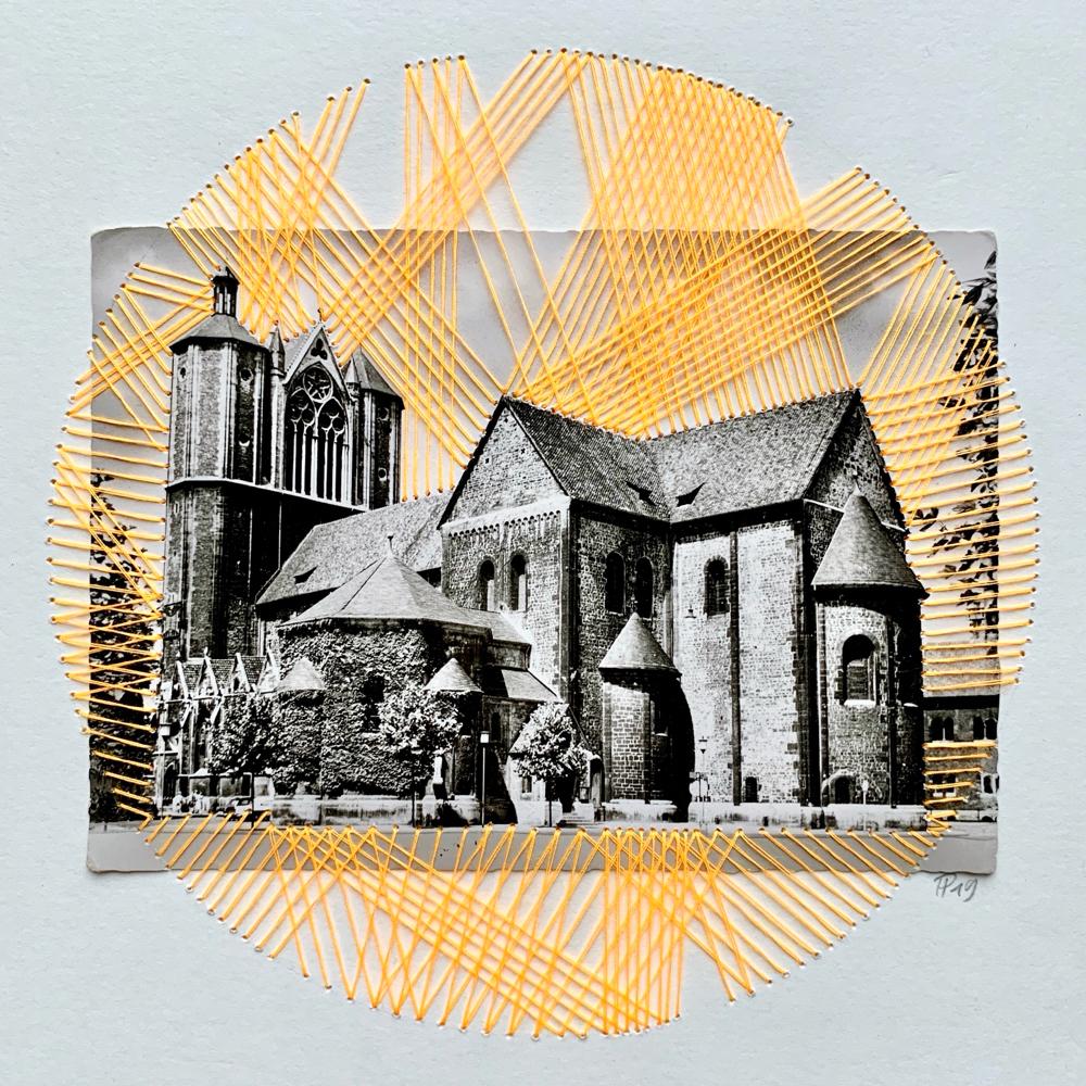"""strahlender Dom"", 23cm x 23cm (Postkarte 10cm x 14,5cm)"