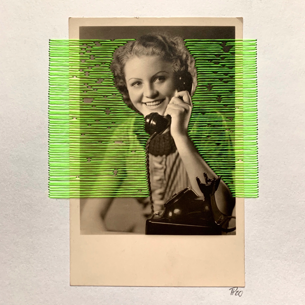 """telephone girl"", 18cm x 24cm, 110€"