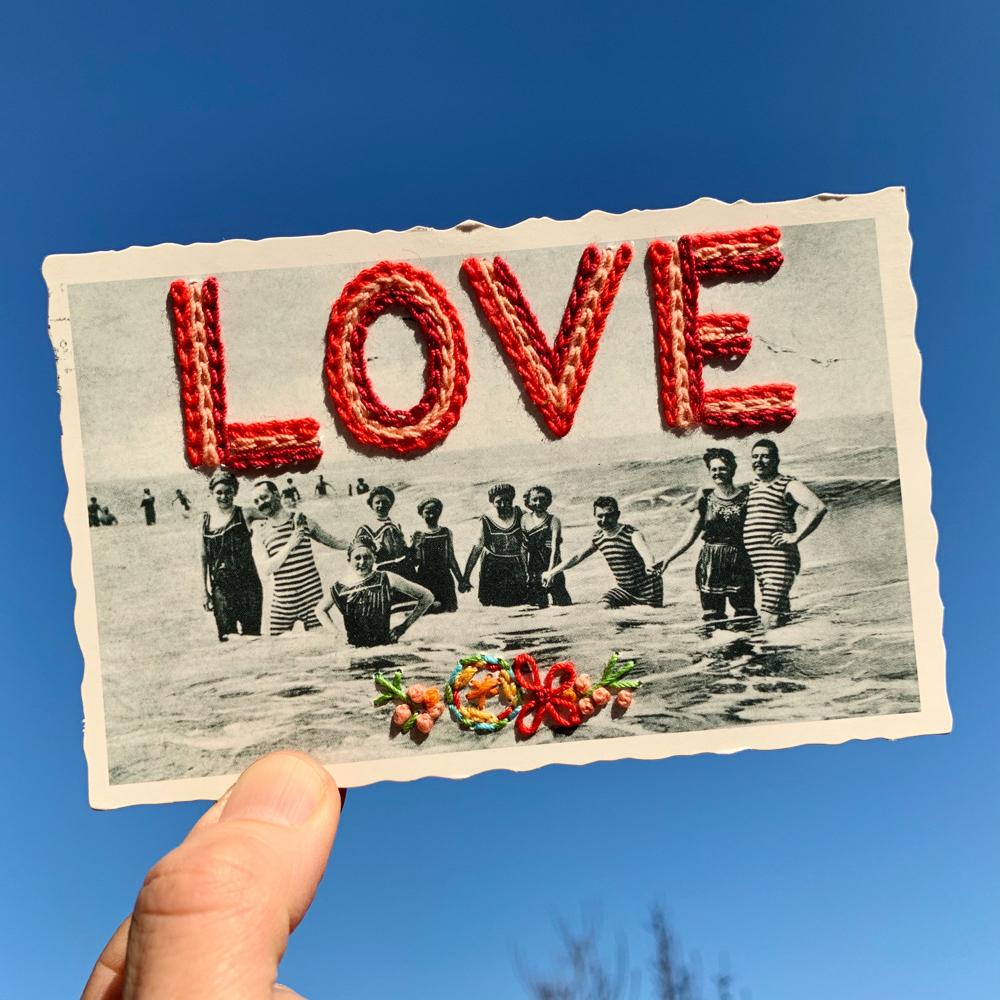 """love"", 13,9cm x 8,9cm"