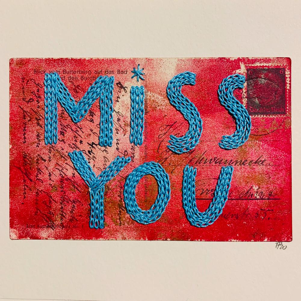 """miss you"", 20cm x 15cm, 110€"